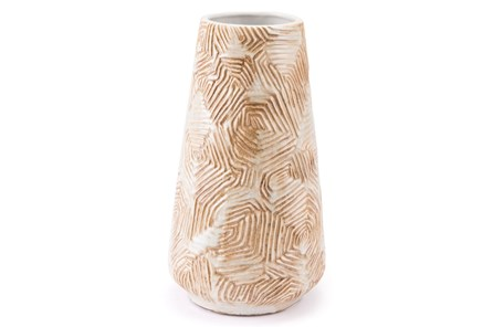 Medium Textured Beige Vase - Main