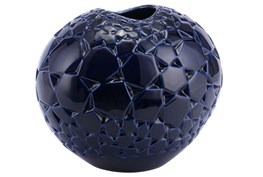 Dark Blue Round Large Vase