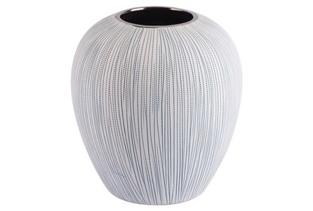 Small Matte White Textured Vase