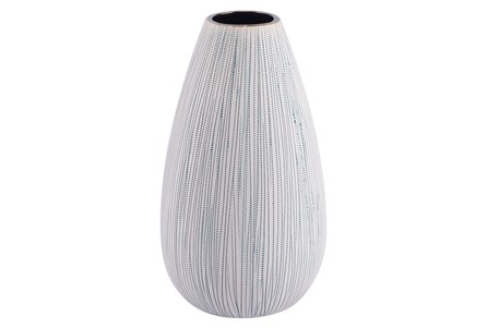 Medium Matte White Textured Vase