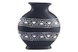 Medium Black & White Tribal Vase