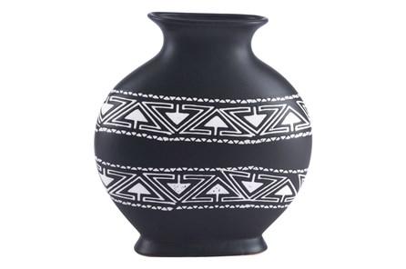 Medium Black & White Tribal Vase - Main