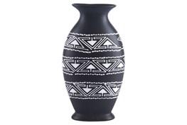 Large Black & White Tribal Vase