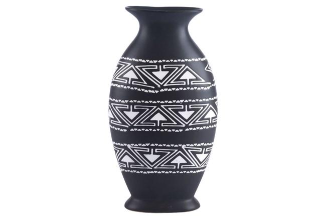 Large Black & White Tribal Vase - 360