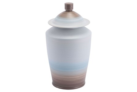 Large Ombre Matte Blue Jar