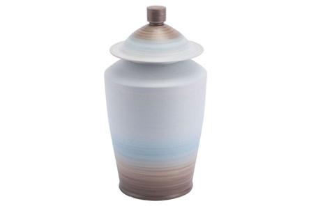 Large Ombre Matte Blue Jar - Main