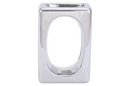 Small Square Silver Sculpture - Main