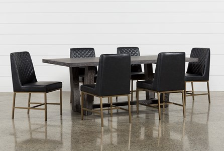 Bale 7 Piece Dining Set With Dom Side Chairs