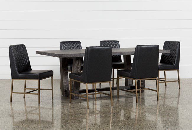 Bale 7 Piece Dining Set With Dom Side Chairs - 360