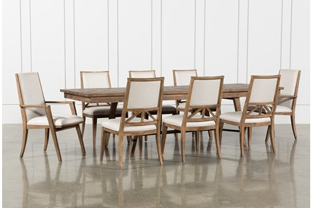 Craftsman 9 Piece Extension Dining Set With Uph Side Chairs - Main