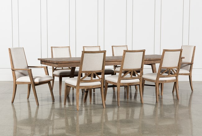 Craftsman 9 Piece Extension Dining Set With Uph Side Chairs - 360