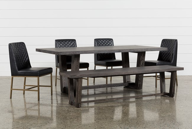 Bale 6 Piece Dining Set With Dom Side Chairs - 360