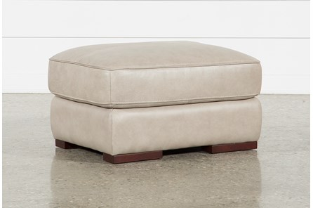 Molly Leather Ottoman