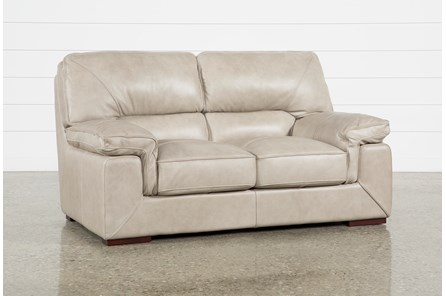 Molly Leather Loveseat - Main