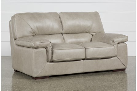 Molly Leather Loveseat