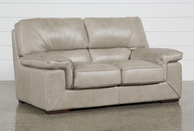 Molly Leather Loveseat - 360