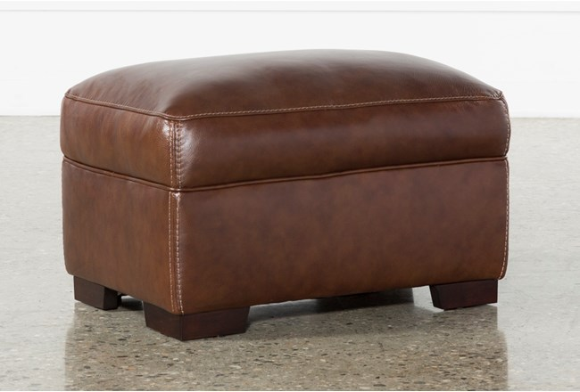 Cassidy Leather Ottoman - 360