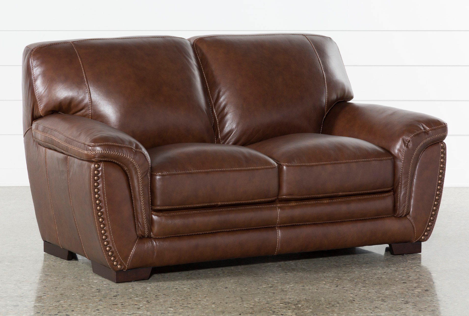 Excellent Cassidy Leather Loveseat Creativecarmelina Interior Chair Design Creativecarmelinacom