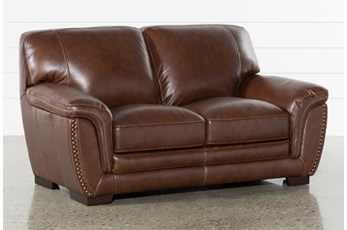 "Cassidy Leather 68"" Loveseat"
