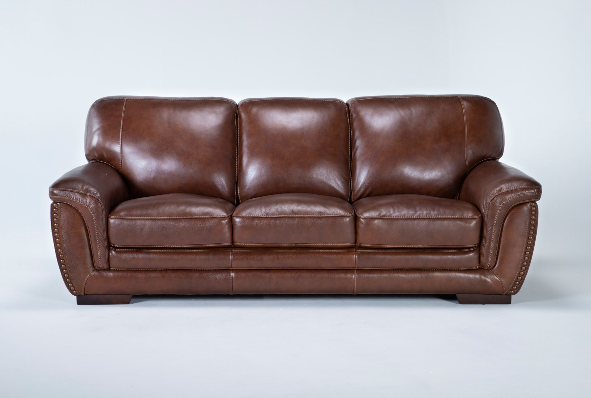 Cidy Leather 91 Sofa Living Es