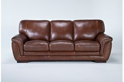 "Cassidy Leather 91"" Sofa"
