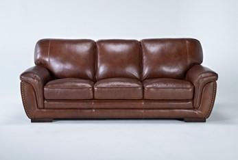 "Cassidy Leather 91"" Sofa"