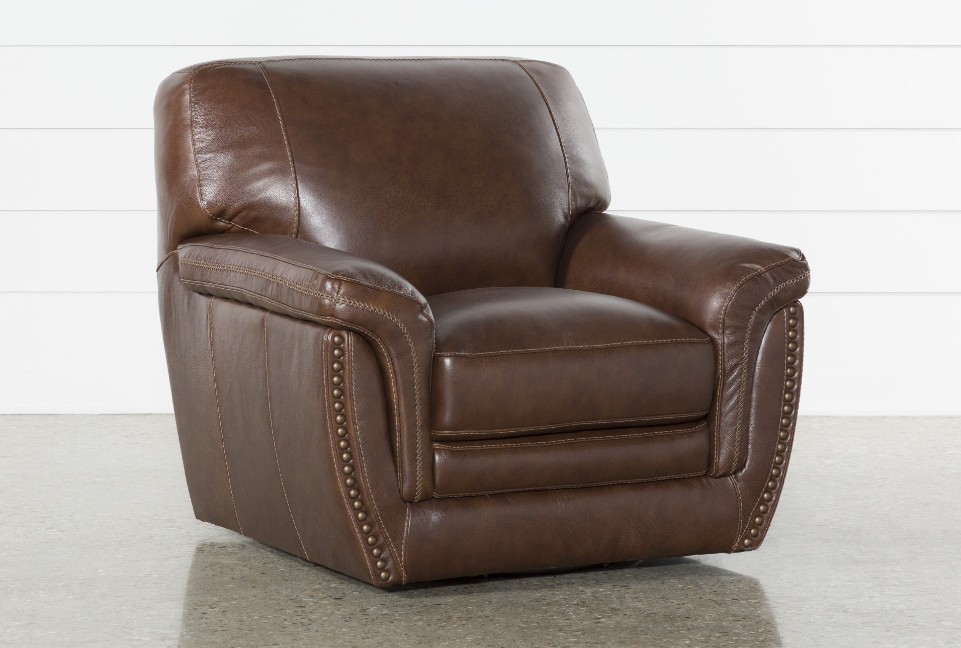 Cassidy Leather Swivel Chair