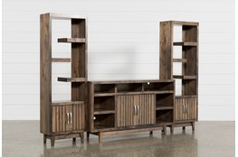 Lauderdale 3 Piece Entertainment Center With 62 Inch TV Stand