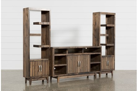 Lauderdale 3 Piece Entertainment Center With 62 Inch TV Stand - Main