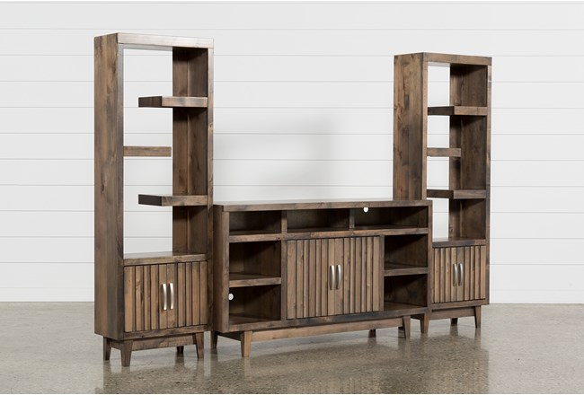 Lauderdale 3 Piece Entertainment Center With 62 Inch TV Stand - 360