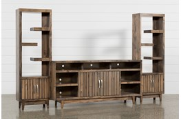 Lauderdale 3 Piece Entertainment Center With 74 Inch TV Stand