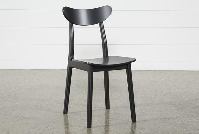 Carson Black Side Chair - 360
