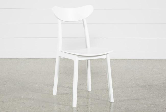 Carson White Side Chair - 360