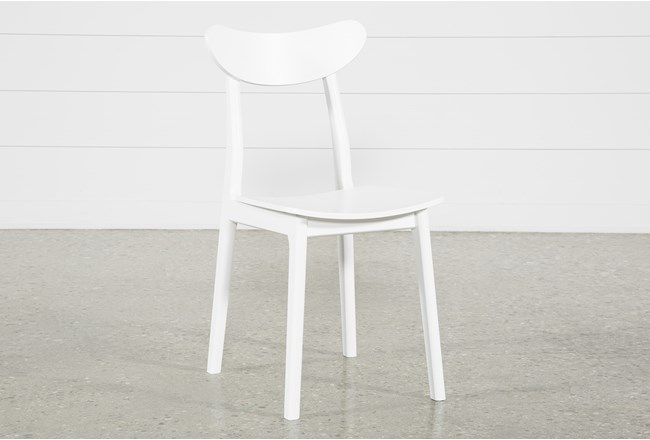 Carson White Dining Side Chair - 360