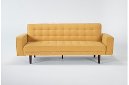 Petula Mustard Convertible Sofa Bed