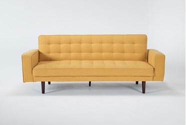 "Petula Mustard 84"" Convertible Sofa Bed"