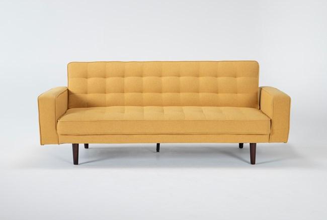 "Petula Mustard 84"" Convertible Sofa Bed - 360"