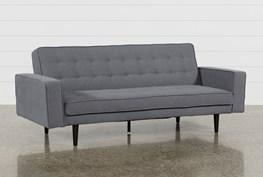 "Petula Slate 84"" Convertible Sofa Bed"