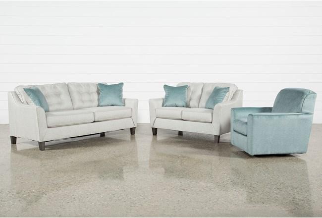 Shelton 3 Piece Living Room Set - 360