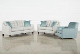 Shelton 3 Piece Living Room Set With Queen Sleeper