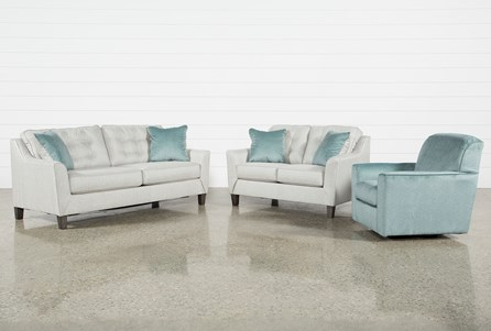 Shelton 3 Piece Living Room Set With Queen Sleeper
