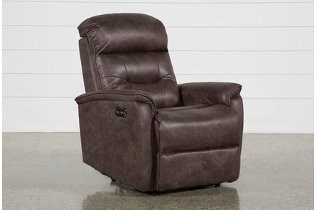 Halden Chocolate Power Recliner With Power Headrest And Usb - Main