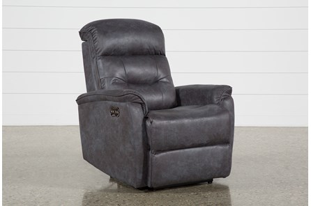 Halden Dark Grey Power Recliner With Power Headrest And Usb
