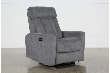Halo Charcoal Power Recliner With Power Headrest And Usb