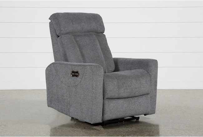 Halo Charcoal Power Recliner With Power Headrest And Usb - 360