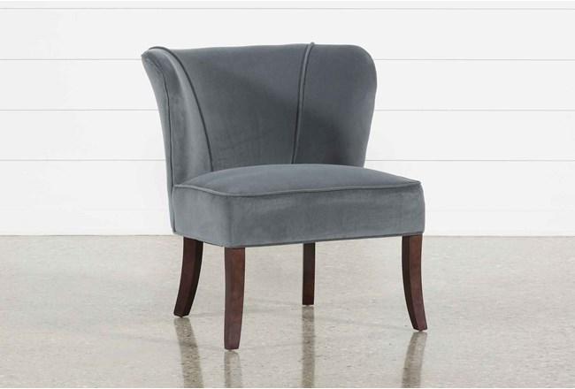 Krista Grey Accent Chair - 360
