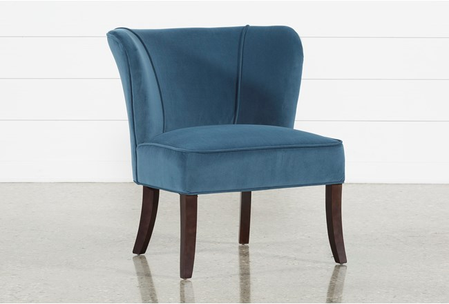 Krista Blue Accent Chair - 360
