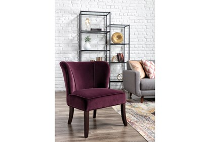 Pleasing Krista Eggplant Accent Chair Forskolin Free Trial Chair Design Images Forskolin Free Trialorg