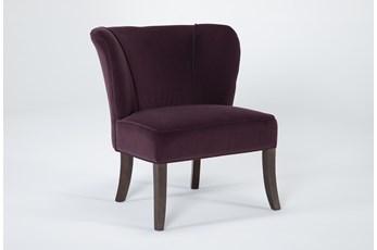Krista Eggplant Accent Chair