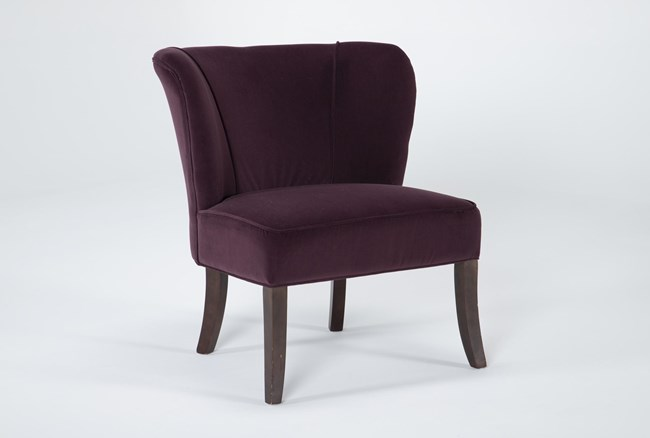 Krista Eggplant Accent Chair - 360